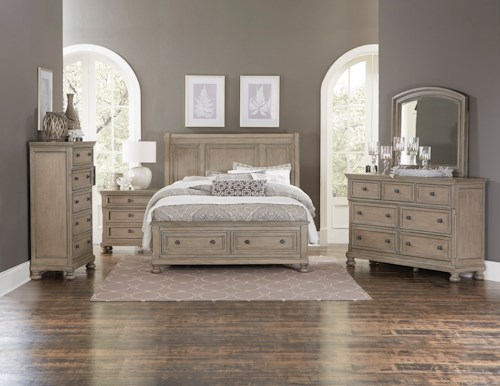 Homelegance 2259GY King Bedroom Group
