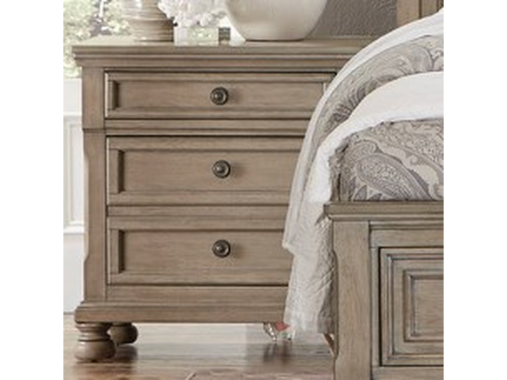 Homelegance 2259GYRelaxed Vintage Night Stand