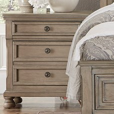 Homelegance 2259GY Relaxed Vintage Night Stand with Hidden Drawer