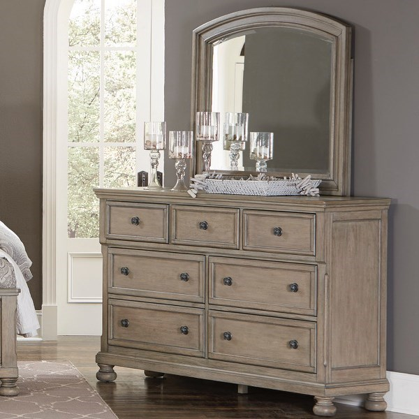 Homelegance 2259GYDresser and Mirror