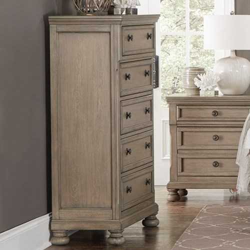 Homelegance (Clackamas Only) 2259GY Relaxed Vintage Chest with 5-Drawers