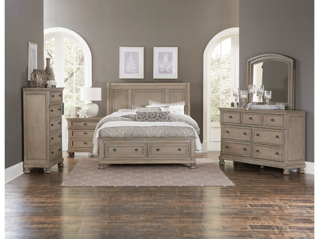 Homelegance 2259GYKing Storage Bed