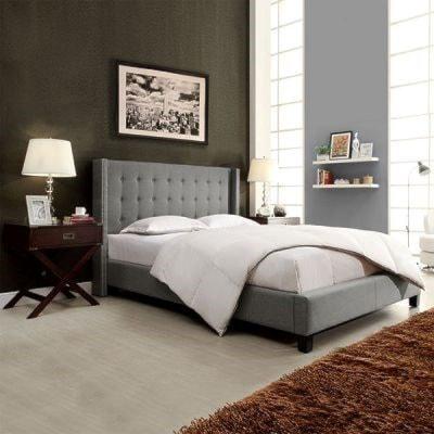 Homelegance 315B GreyFull Upholstered Platform Bed
