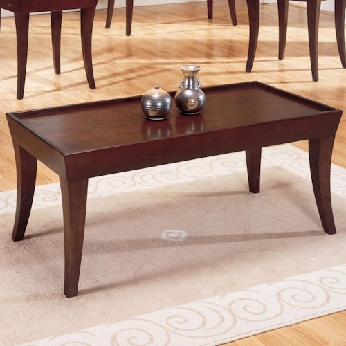 Homelegance Zen Casual Cocktail Table with Espresso Finish