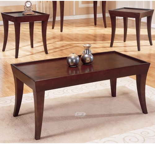 Homelegance Zen Casual Occasional Table Group with Espresso Finish