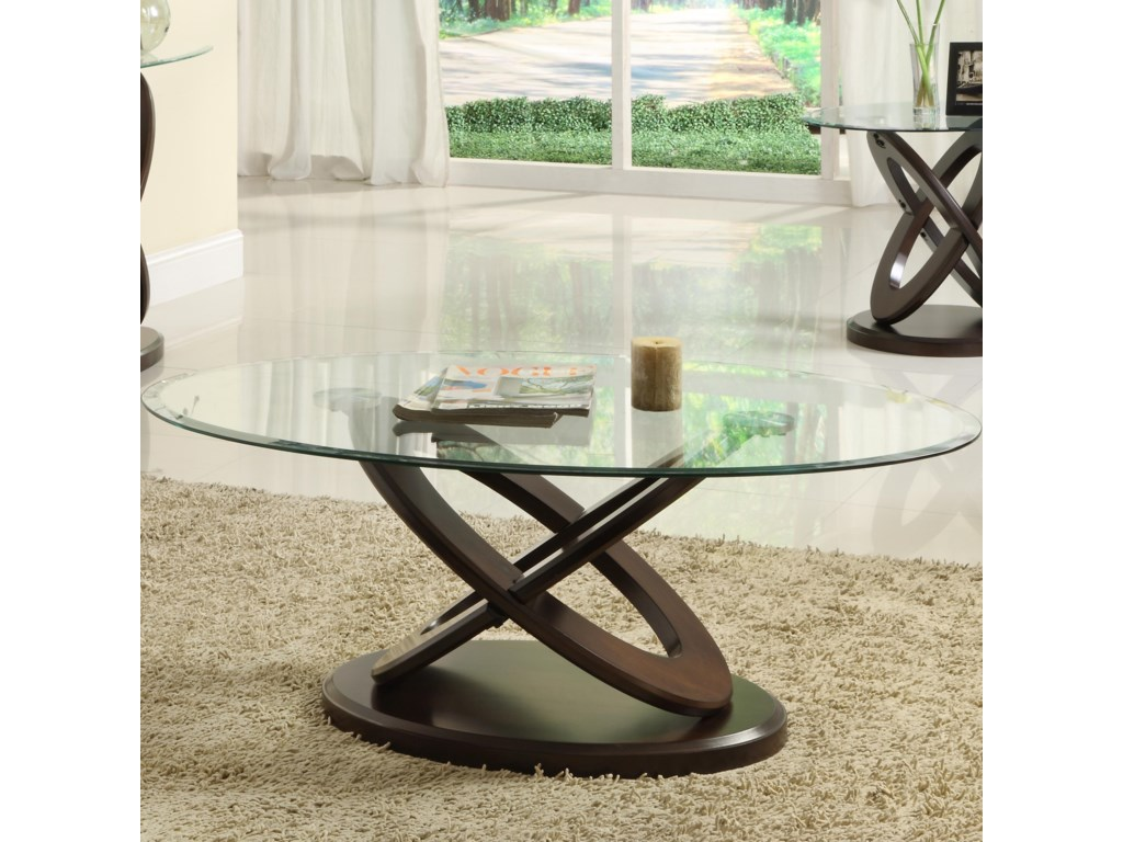 Homelegance 3401WOval Cocktail Table