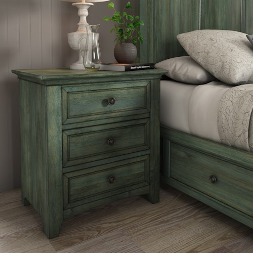 Homelegance 395 Three Door Night Stand with USB Ports
