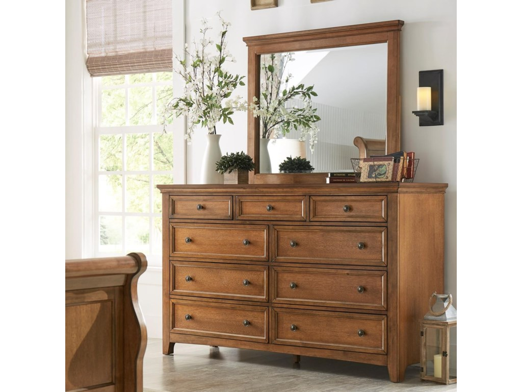 Homelegance 395Dresser and Mirror Set