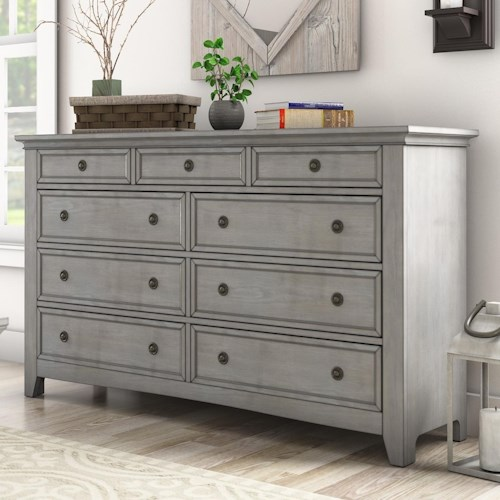 Homelegance 395 Casual Nine Drawer Dresser