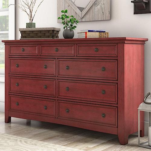 Homelegance 395 Casual Nine Drawer Dresser