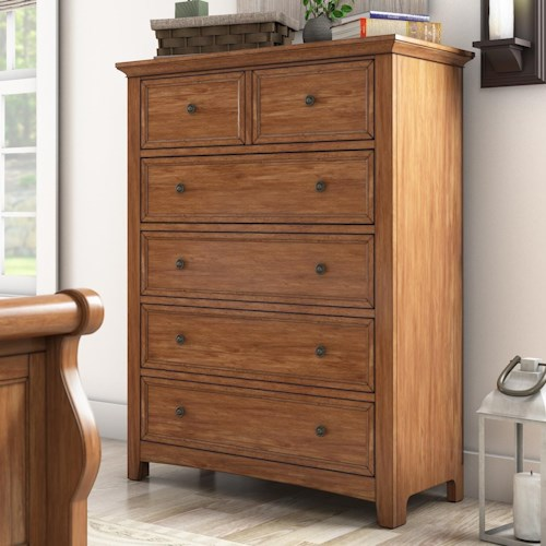 Homelegance 395 Casual Five Drawer Chest