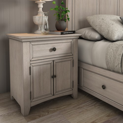 Homelegance 395 Cupboard Night Stand with USB Ports