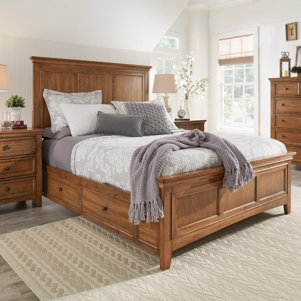 Homelegance 395 casual queen panel bed with storage becks furniture panel beds