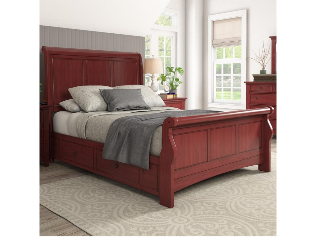Homelegance 395Queen Sleigh Bed
