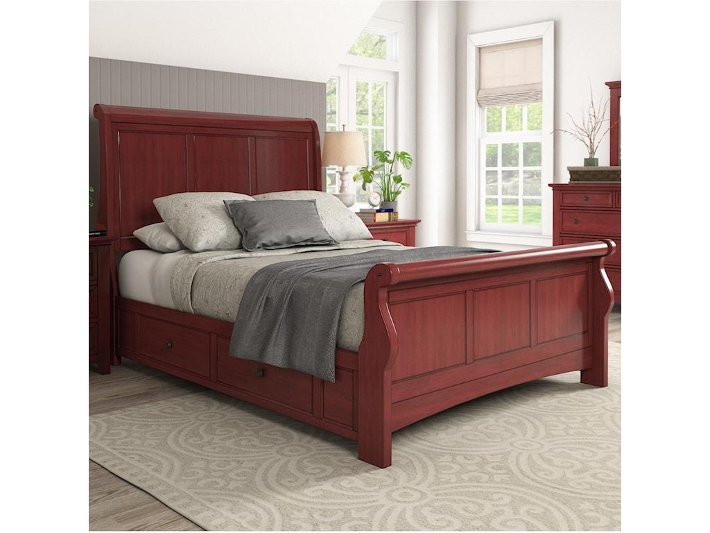 Homelegance 395Queen Sleigh Bed