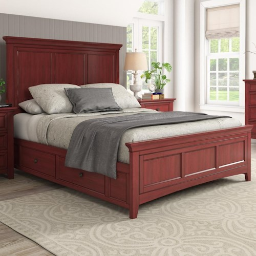Homelegance 395 Casual Queen Panel Bed with Storage