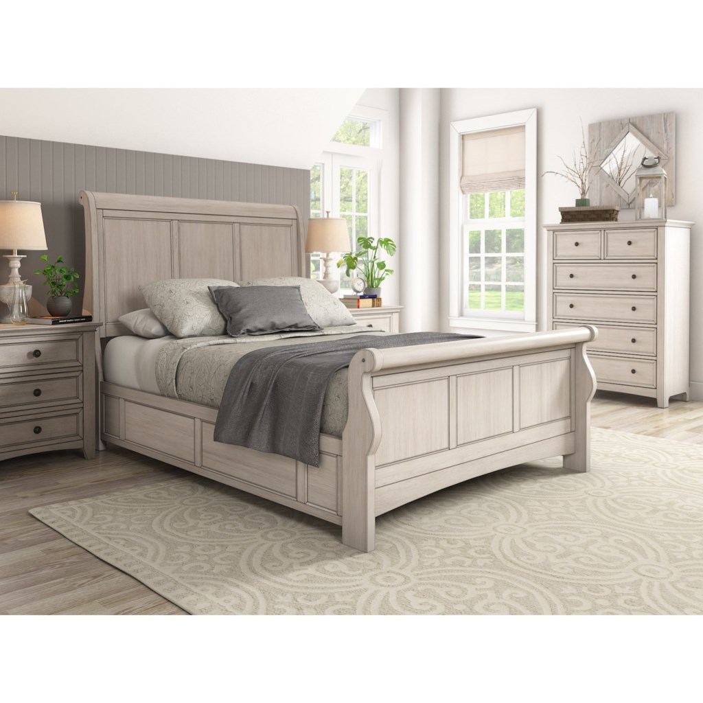 Homelegance 395 casual queen sleigh bed