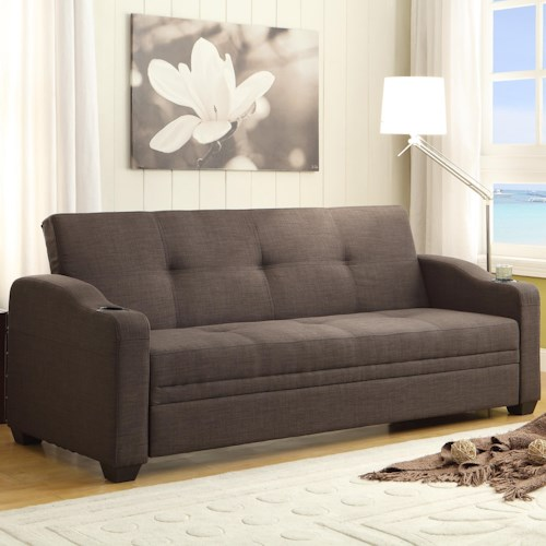 Homelegance (Clackamas Only) Caffery Contemporary Click Clack with Tufting
