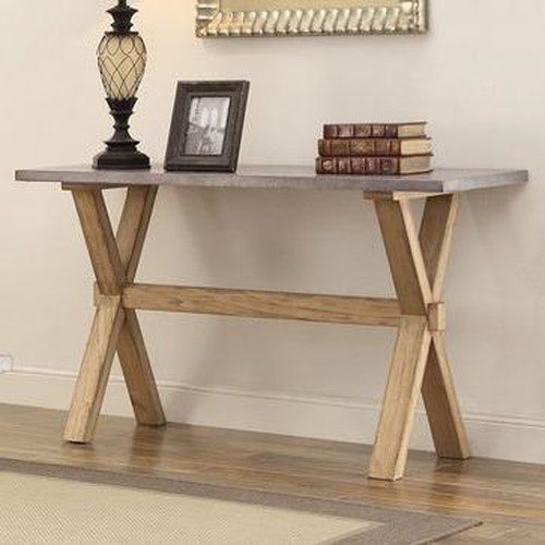 Homelegance 5100 Sofa Table with Zinc Top