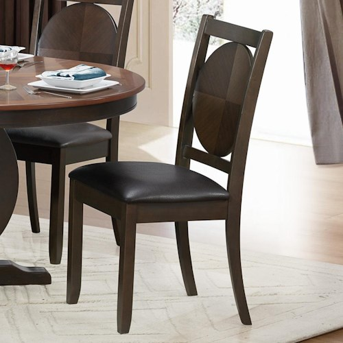 Homelegance 5111 Side Chair with Circular Back Design