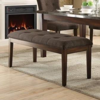 Homelegance Dorritt Upholstered Dining Bench with Tufted Seat