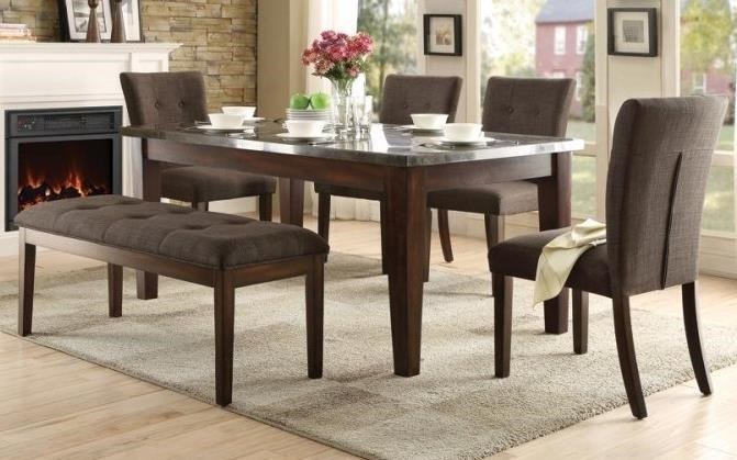Homelegance DorrittDining Set with Bench