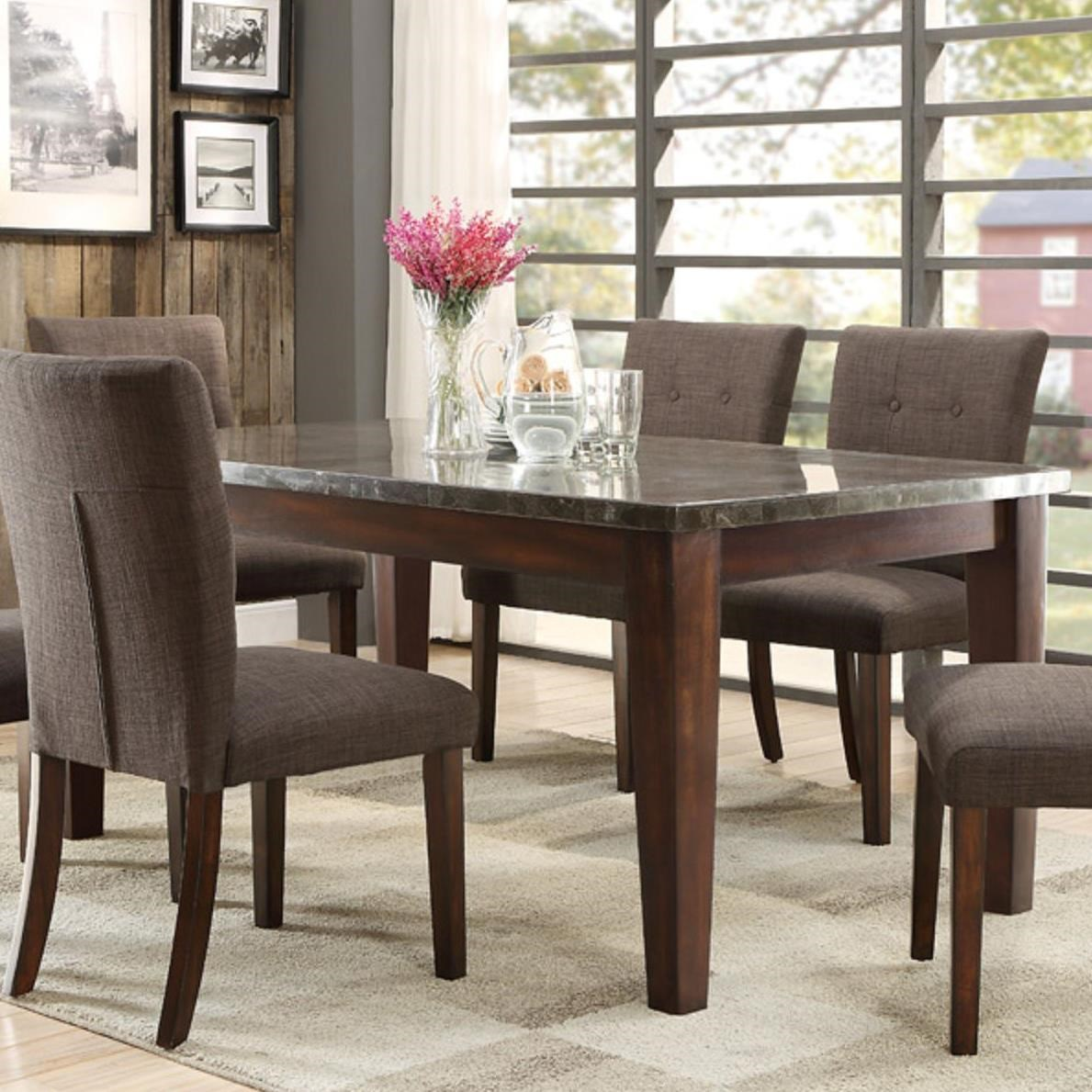 homelegance 5281 dining table with bluestone top - wayside