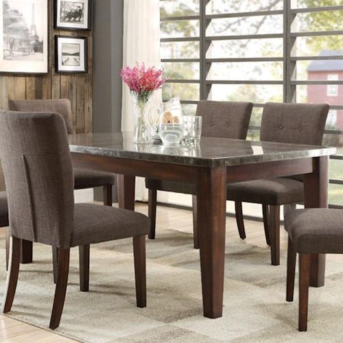 Homelegance Dorritt Dining Table with Bluestone Top