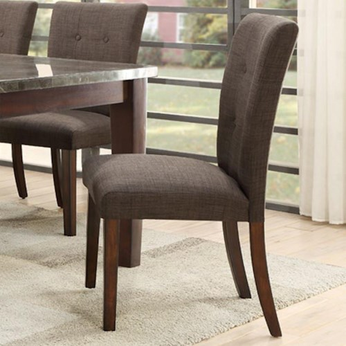 Homelegance 5281 Upholstered Side Chair with Button Tufting
