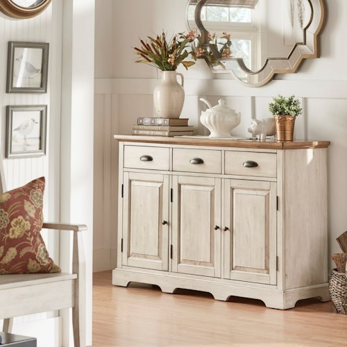Homelegance 530 Dining Server with Concealed Storage