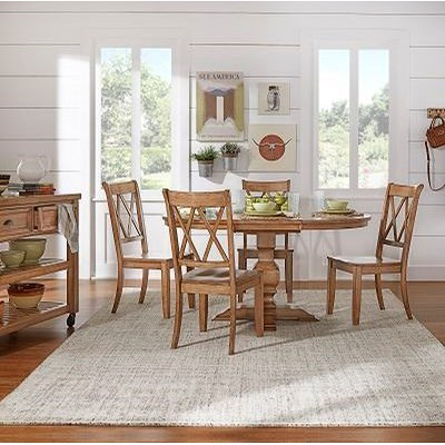 Homelegance 530 Kitchen Pedestal Table with 18