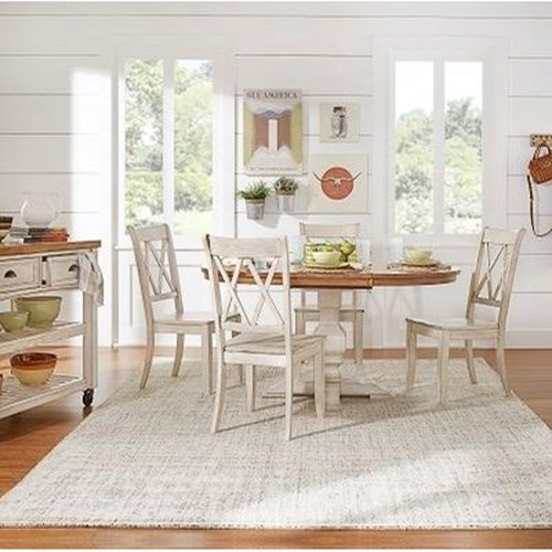 Homelegance 530 Kitchen Pedestal Table with 18