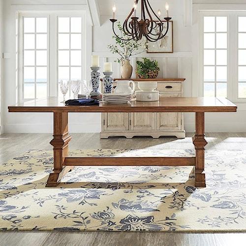 Homelegance 530 Rectangular Dining Table with Trestle Base