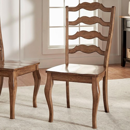 Homelegance 530 Dining Side Chair with French Ladder Back