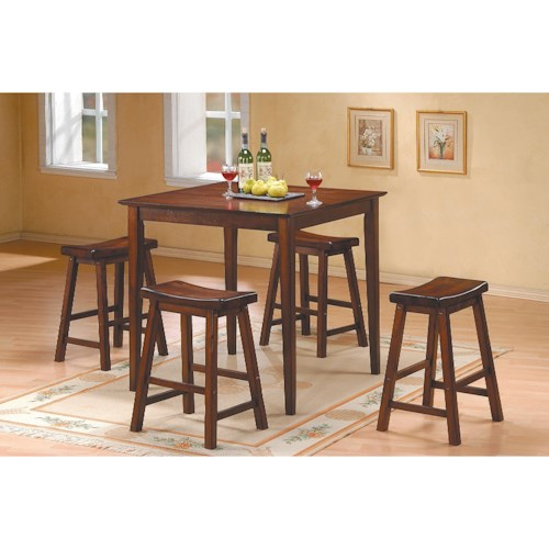 Homelegance 5302 5Pc Counter Height Dinette Set