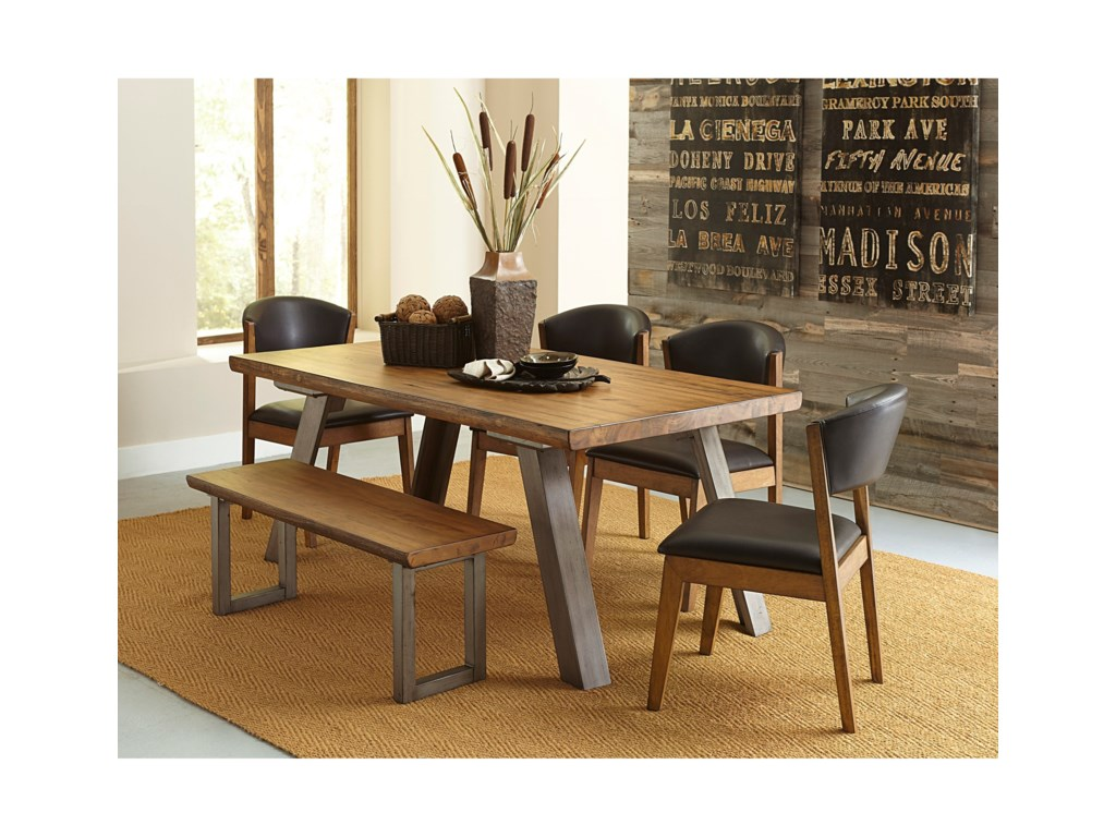 Homelegance 5478Table and Chair Set with Bench