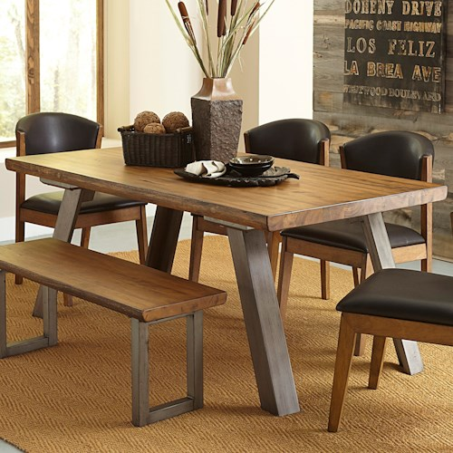 Homelegance 5478 Contemporary Dining Table with Live Edge