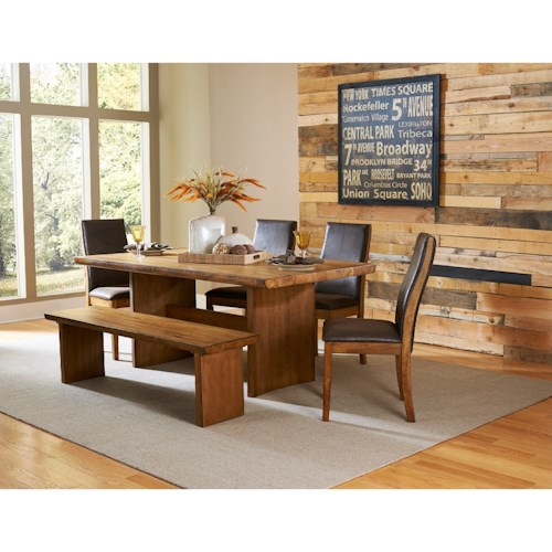 Homelegance 5479 Contemporary Table and Chair Set with Bench