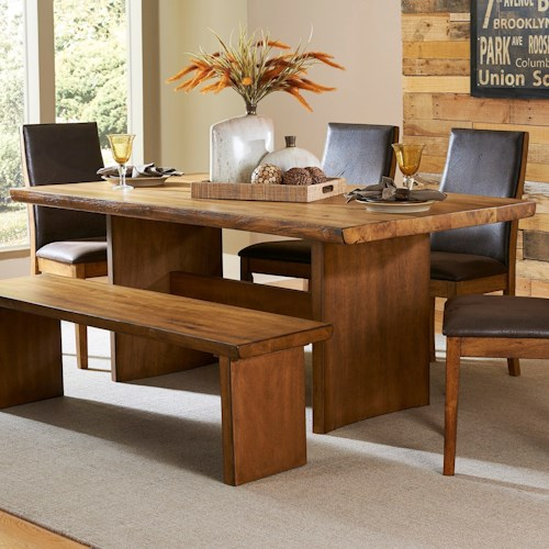 Homelegance 5479 Contemporary Dining Table with Live Edge