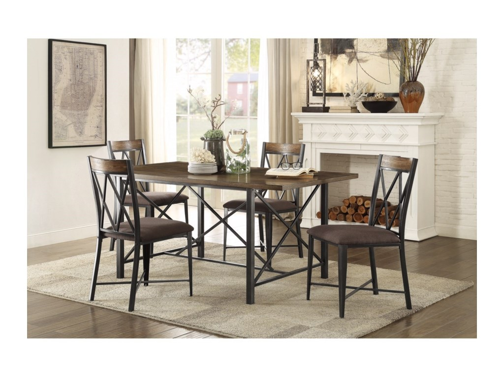 Homelegance 5512Contemporary Table and Chair Set