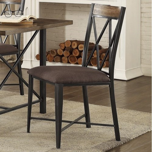 Homelegance 5512 Contemporary Dining Side Chair with Upholstered Seat