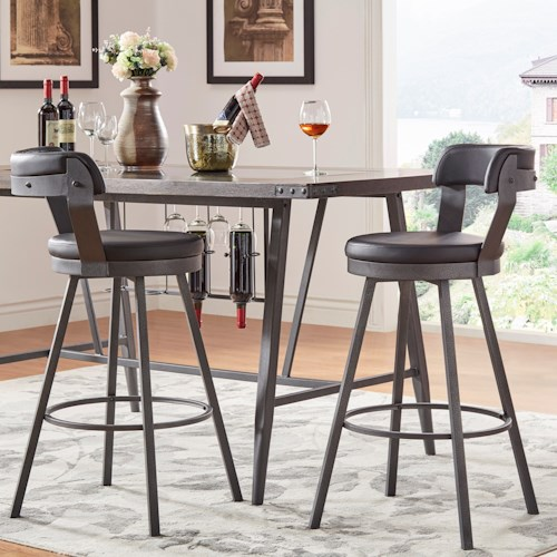 Homelegance 5566 Bar Height Chair with Swiveling Seat