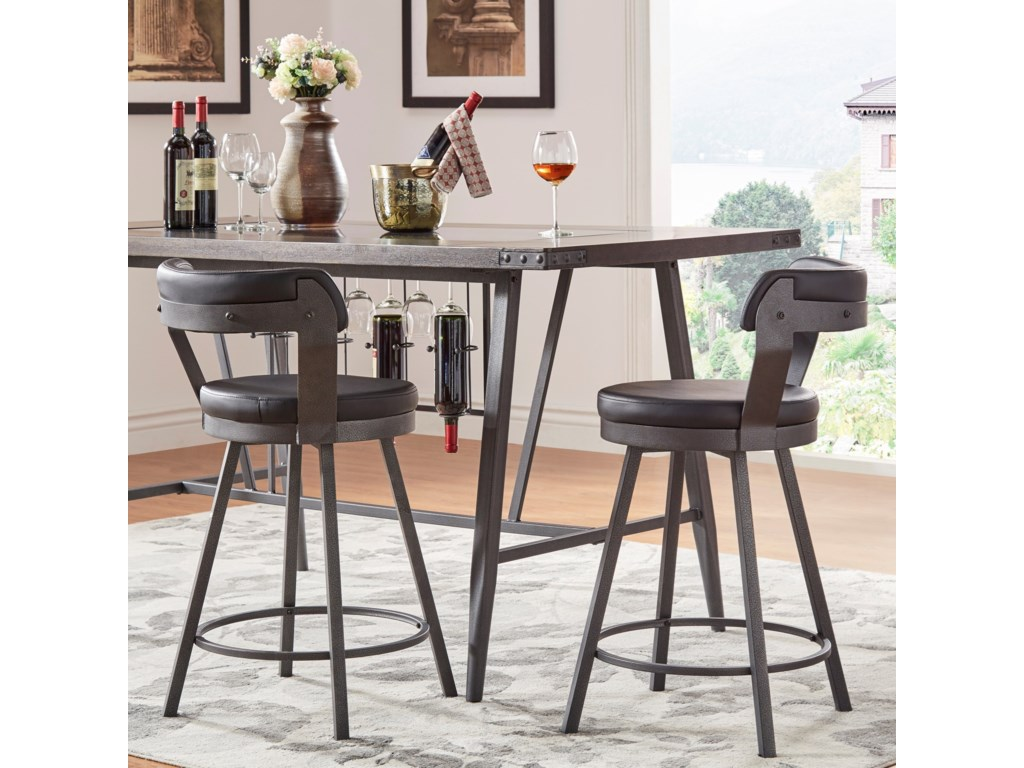 Elegance 5566Counter Height Table and Chair Set