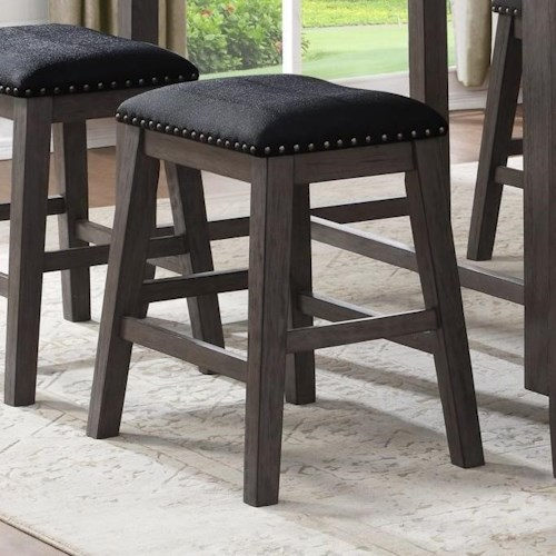 Homelegance 5603 Transitional Counter Height Stool with Upholstered Seat