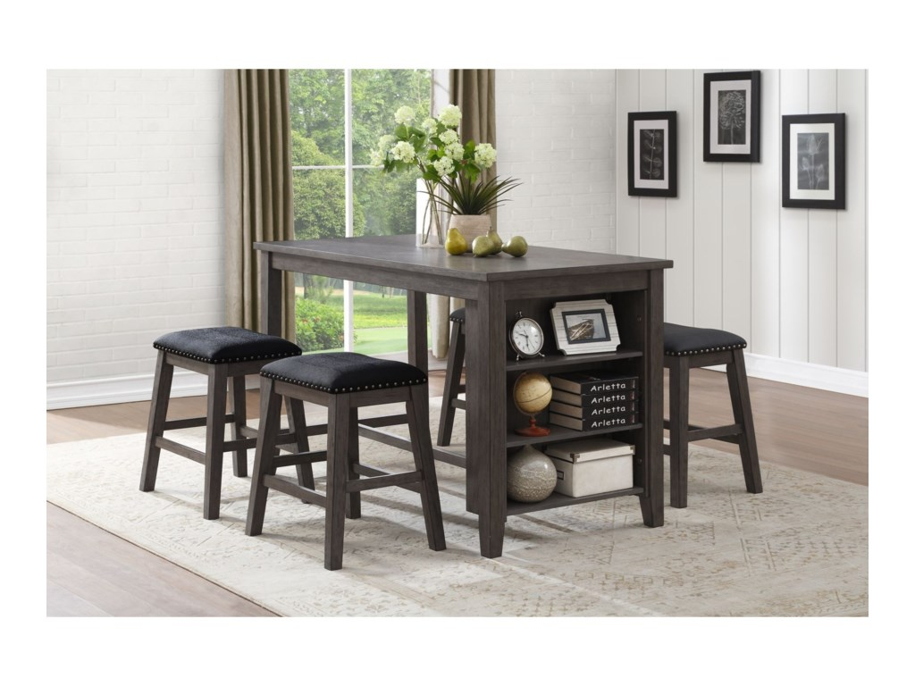 Homelegance 5603 Transitional Counter Height Table and Chair Set ...