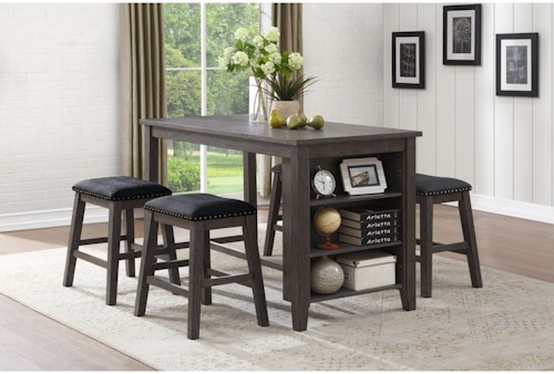 Homelegance 5603 Transitional Counter Height Table and Chair Set