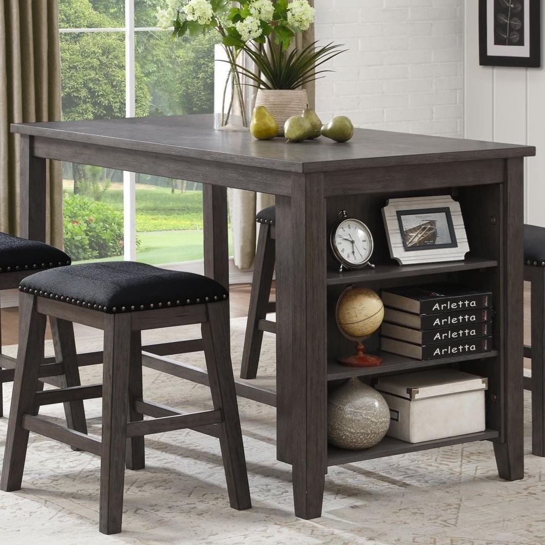 Charmant Homelegance 5603 Transitional Counter Height Table With 3 Shelves