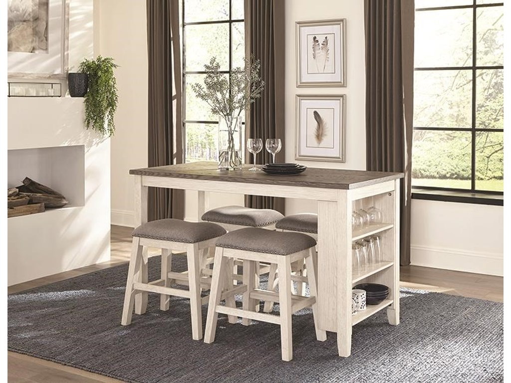Homelegance 56035 Piece Counter Height Dining Set