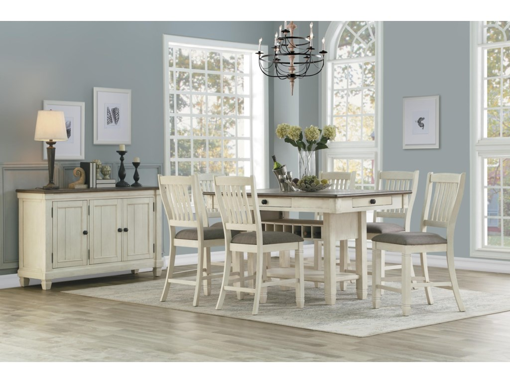 Homelegance 5627Counter Dining Table & Chair Set