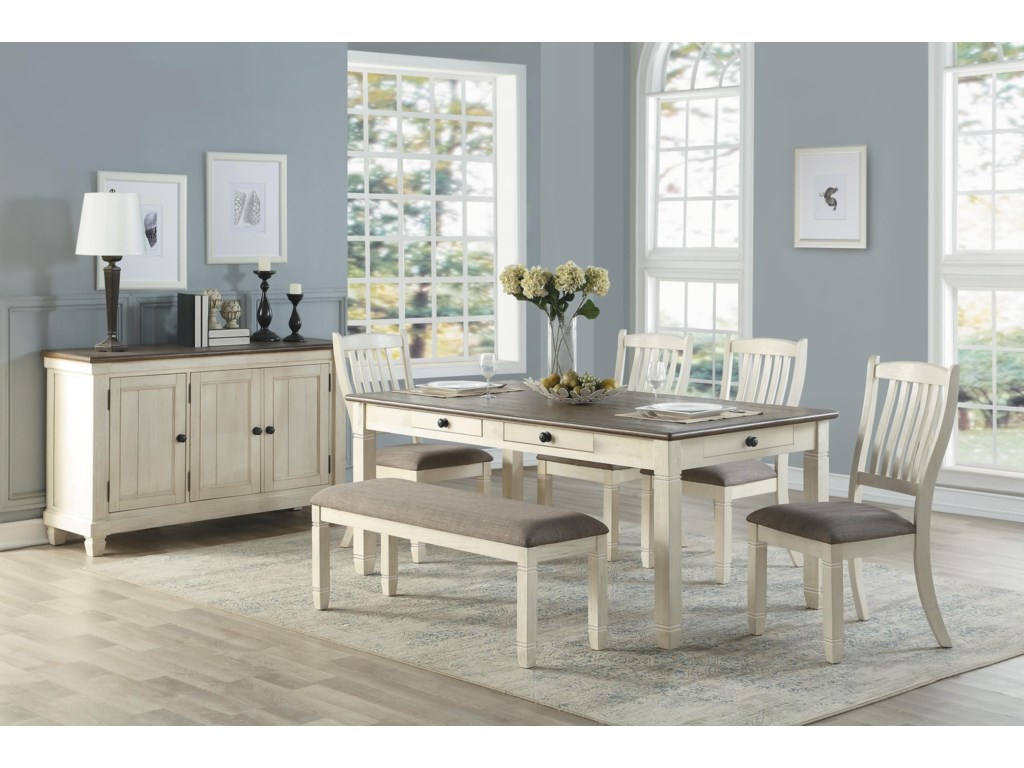 Homelegance 5627Dining Table w/6 Drawers